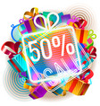 colorful sale announcement vector image