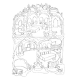 Colouring Page Of Mermaid House vector image vector image