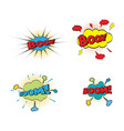 comic text pop art style vector image vector image