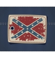 Confederate flag on label on jeans vector image