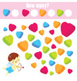 counting educational children game how many vector image vector image