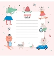 Cute Calendar Daily Planner Template vector image vector image