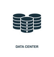 data center icon monochrome style design from big vector image vector image