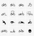 different types of bicycles vector image vector image