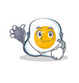 doctor fried egg character cartoon art vector image vector image