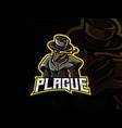 doctor plague mascot vector image vector image