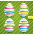 Easter white eggs with colorful patterns set vector image