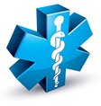 Emergency ambulance medicine symbol vector image
