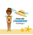 enjoy the vacations holidays vector image vector image