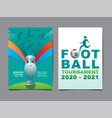 european soccer tournament 2020-2021 background vector image