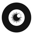 eye ball icon simple style vector image