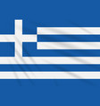 flag greece swaying in the wind realistic vector image