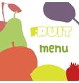 Fruits menu design template Healthy food vector image