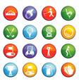 golf icon set vector image vector image