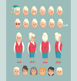 grandmother constructor animated cartoon character vector image