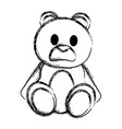 grunge bear teddy cute toy childhood vector image vector image