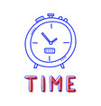 hand draw clock icon in doodle style for your vector image vector image