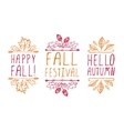 Hand-sketched typographic elements for autumn vector image vector image