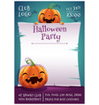 happy halloween editable poster with smiling vector image vector image
