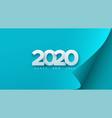 happy new 2020 year vector image vector image