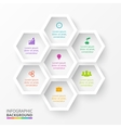 hexagons for infographic vector image vector image