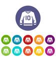 hockey jersey icons set flat vector image