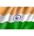 india flag flat style vector image