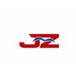 JZ Logo Graphic Branding Letter Element vector image vector image