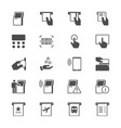 kiosk flat icons vector image vector image