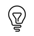 light bulb line idea icon vector image
