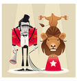 Lion Tamer with lion vector image
