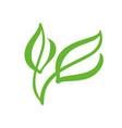 logo of green leaf of tea ecology nature element vector image vector image