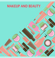 makeup and beauty symbols cosmetics and fashion vector image