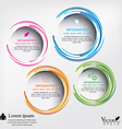 Modern circle can be used for workflow layout vector image vector image