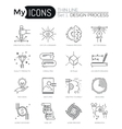Modern thin line icons set of design process vector image vector image