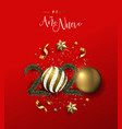 new year 2020 spanish card gold holiday ornament vector image vector image