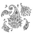 paisley ethnic ornament vector image vector image