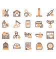 pet service color linear icons set vector image vector image