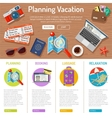 Planning Vacation infographics vector image vector image