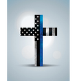 Police Flag Cross vector image vector image
