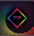 rainbow halftone dotted vortex square background vector image vector image