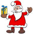 santa claus cartoon character with christmas vector image vector image