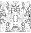 seamless pattern with fantasy crosses 7 vector image vector image
