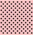 seamless polka dot pattern black dots on pink vector image vector image