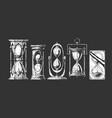 set different sandglass vector image vector image