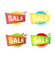 set of colorfull sale banner and emblem icons vector image vector image