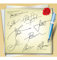 Signatures vector image vector image