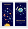 Solar system and space exploration banners vector image