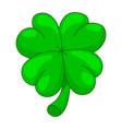 st patricks holidays four leaf clover lucky vector image