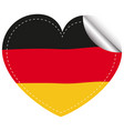 sticker design for flag of germany vector image vector image